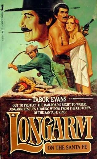 book cover of Longarm On the Santa Fe