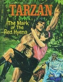 book cover of Tarzan the Mark of the Red Hyena