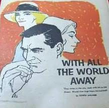 book cover of With All The World Away