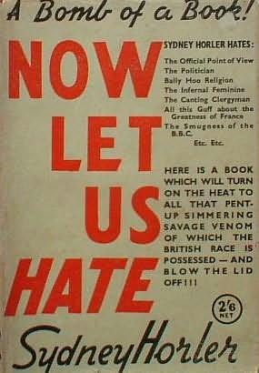 book cover of Now Let Us Hate