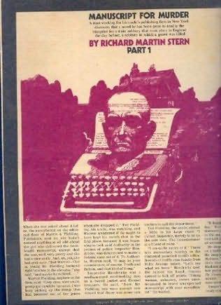 book cover of Manuscript for Murder