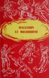 book cover of Malleson At Melbourne