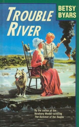 book cover of Trouble River
