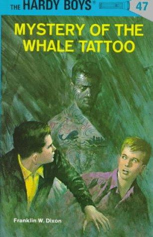 haida whale coverup tattoo. He had these two wierd shaped cones on his back book cover of The Mystery of the Whale Tattoo (Hardy Boys, book 47)