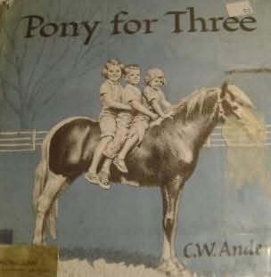 book cover of Pony for Three