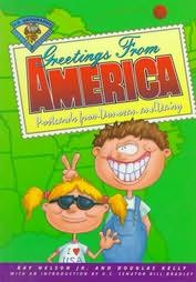 book cover of Greetings from America: Postcards from Donovan Willoughby