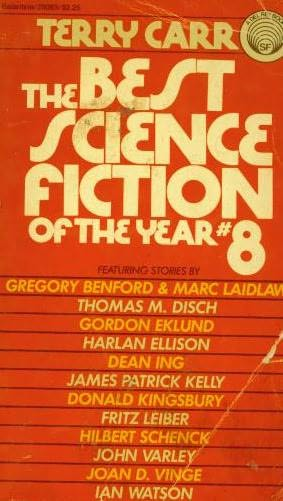 book cover of The Best Science Fiction of the Year 8