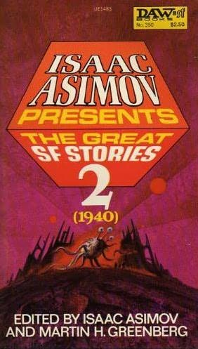 book cover of The Great SF Stories Two