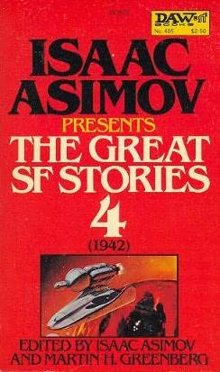 book cover of The Great SF Stories 4