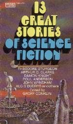 book cover of 13 Great Stories of Science Fiction