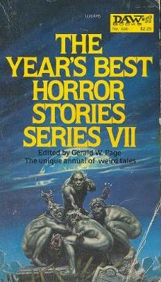book cover of The Year\'s Best Horror Stories VII