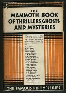 book cover of The Mammoth Book of Thrillers, Ghosts and Mysteries