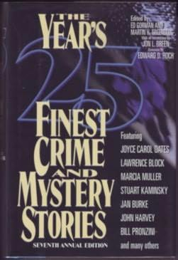 book cover of The Year\'s 25 Finest Crime and Mystery Stories: Seventh Annual Edition