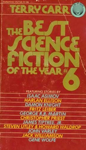 book cover of The Best Science Fiction of the Year 6
