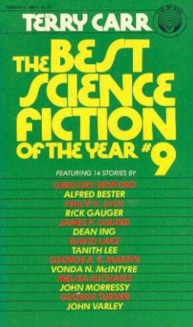 book cover of The Best Science Fiction of the Year 9