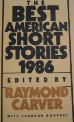 book cover of The Best American Short Stories 1986