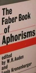 book cover of The Faber Book of Aphorisms