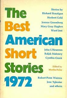 book cover of The Best American Short Stories 1972
