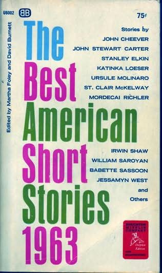 book cover of The Best American Short Stories 1963