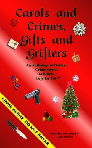 book cover of Carols and Crimes, Gifts and Grifters