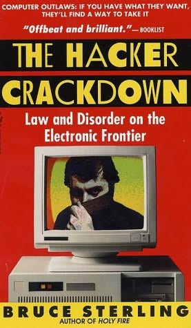 book cover of The Hacker Crackdown