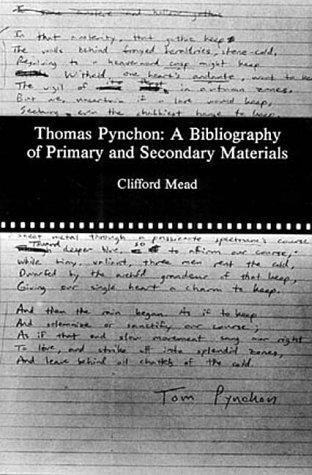 book cover of Thomas Pynchon