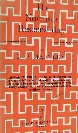 book cover of The Novelist\'s Responsibility