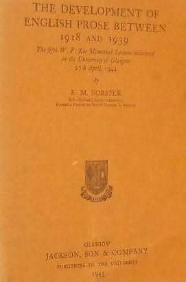 book cover of The Development of English Prose Between 1918 and 1939