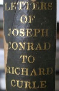 book cover of Letters Joseph Conrad to Richard Curle