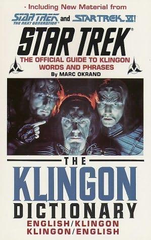 book cover of The Klingon Dictionary
