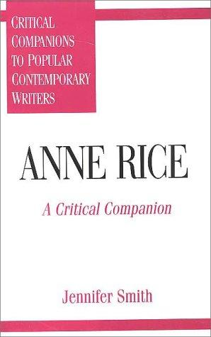book cover of Anne Rice