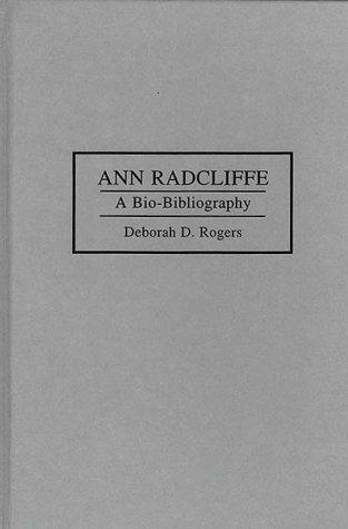 book cover of Ann Radcliffe