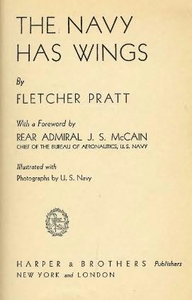 book cover of The Navy has Wings