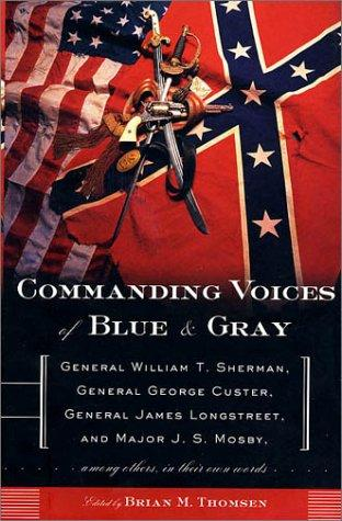 book cover of Commanding Voices of Blue and Gray