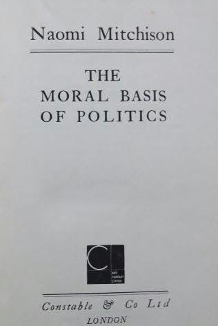 book cover of The Moral Basis of Politics