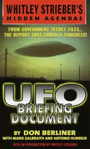 book cover of UFO Briefing Document