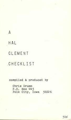 book cover of A Hal Clement Checklist