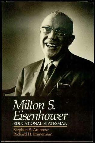 book cover of Milton S. Eisenhower