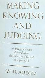 book cover of Making, Knowing and Judging