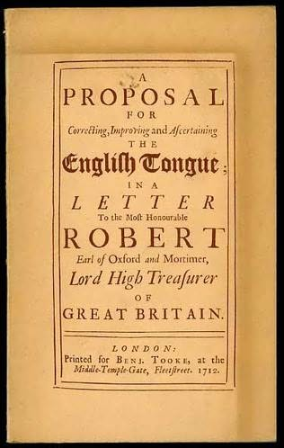 book cover of A proposal for correcting, improving and ascertaining the English tongue, 1712