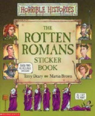 book cover of Rotten Romans Sticker Book
