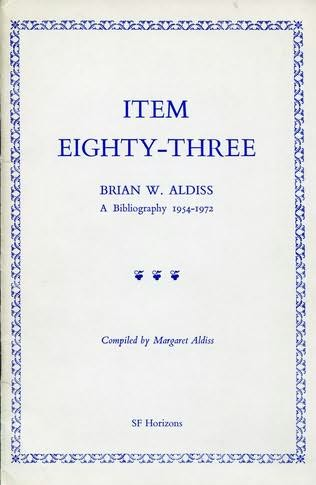 book cover of Brian W. Aldiss, a bibliography 1954-1972