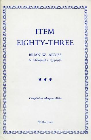 book cover of Brian W. Aldiss, a bibliography 1954-1972
