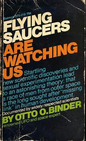book cover of Flying Saucers are Watching Us