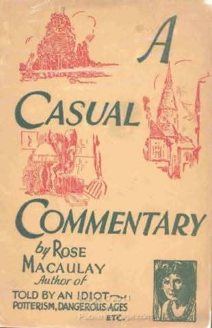book cover of A Casual Commentary
