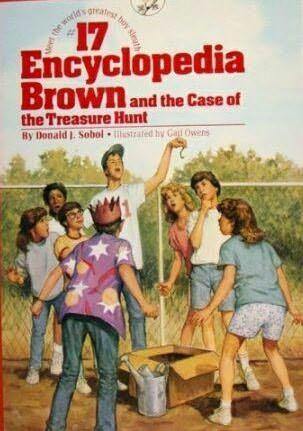book cover of Encyclopedia Browns Treasure Hunt