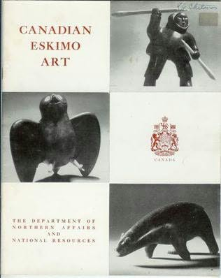 book cover of Canadian Eskimo Art
