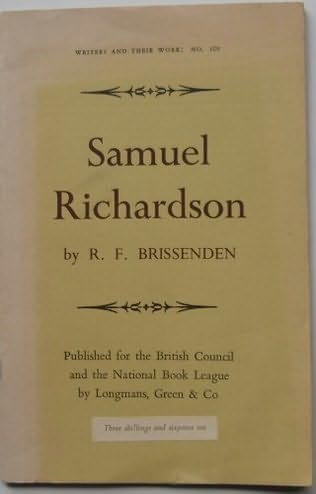 book cover of Samuel Richardson