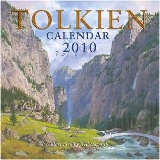 book cover of Tolkien Calendar 2010