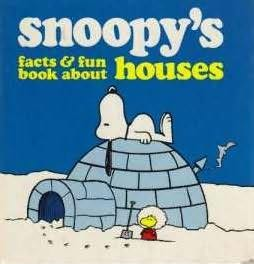 book cover of Snoopy\'s Facts and Fun Book About Houses